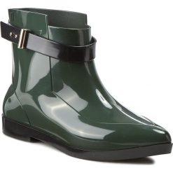 Kalosze MELISSA - Francoise+Jason Wu A 31778 Green/Black 52046. Zielone buty zimowe damskie Melissa, z tworzywa sztucznego. W wyprzedaży za 429,00 zł.