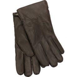 Rękawiczki męskie. Brązowe rękawiczki męskie Gino Rossi, ze skóry. Za 179,90 zł.