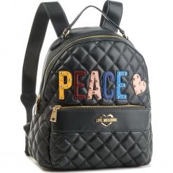 Plecak LOVE MOSCHINO - JC4227PP06KC0850  Verde. Czarne plecaki damskie marki Love Moschino, ze skóry ekologicznej, klasyczne. Za 929,00 zł.