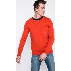 Tommy Jeans - Sweter. Szare swetry klasyczne męskie Tommy Jeans, l, z dzianiny, z okrągłym kołnierzem. W wyprzedaży za 299,90 zł.