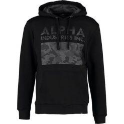 Bejsbolówki męskie: Alpha Industries Bluza z kapturem black
