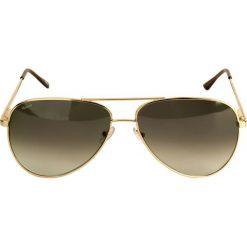 Okulary przeciwsłoneczne męskie: Złote okulary przeciwsłoneczne