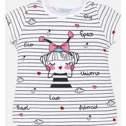 Mayoral - Top dziecięcy 98-134 cm. Różowe bluzki dziewczęce marki Mayoral, z bawełny, z okrągłym kołnierzem. Za 74,90 zł.
