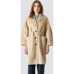 Trendyol Płaszcz Camel - Beige. Brązowe płaszcze damskie pastelowe Trendyol, w paski. Za 303,95 zł.