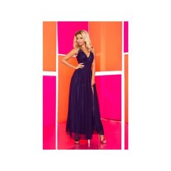 Długie sukienki: SUKIENKA ZWIEWNA TESSO GRANATOWA MAXI