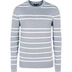 Swetry męskie: Sweter w kolorze szaro-białym