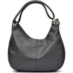 Torebki i plecaki damskie: Skórzana torebka w kolorze czarnym – (S)39 x (W)28 x (G)3 cm