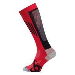 Skarpetki męskie: Odlo Skarpety unisex Running muscle force extra long czerwono-czarne r. 42-44