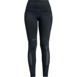 Rockupy Androgina Legginsy czarny. Czarne legginsy Rockupy, m, z aplikacjami, z koronki. Za 99,90 zł.