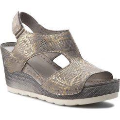 Sandały damskie: Sandały DOLCE PIETRO – 0888-126-01-1 Zorro Szaro Złote