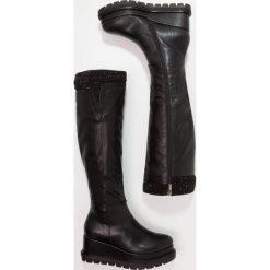 Buty zimowe damskie: Tata Italia Kozaki na koturnie black