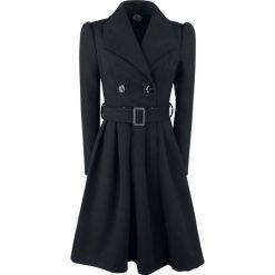Płaszcze damskie pastelowe: H&R London Black Vintage Swing Coat Płaszcz damski czarny