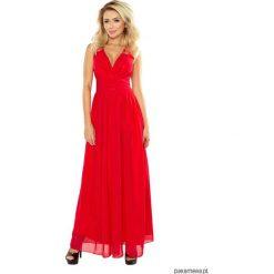 Długie sukienki: Sukienka ZWIEWNA MAXI tiulowa czerwona