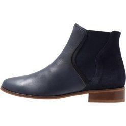 Mint&berry Ankle boot dark blue. Niebieskie botki damskie na zamek mint&berry, z materiału. Za 379,00 zł.