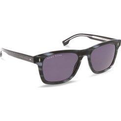 Okulary przeciwsłoneczne BOSS - 0925/S Mttblue Horn HW8. Czarne okulary przeciwsłoneczne damskie aviatory Boss. W wyprzedaży za 489,00 zł.