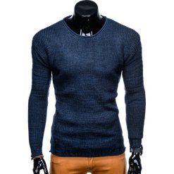 SWETER MĘSKI E109 - GRANATOWY. Zielone swetry klasyczne męskie marki Ombre Clothing, na zimę, m, z bawełny, z kapturem. Za 39,00 zł.