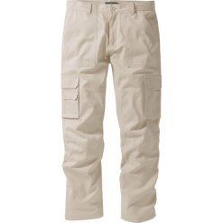 """Spodnie """"bojówki"""" z powłoką z teflonu Regular Fit Straight bonprix piaskowy. Brązowe bojówki męskie marki bonprix. Za 59,99 zł."""