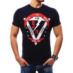 T-shirty męskie z nadrukiem: T-shirt męski z nadrukiem granatowy (rx2304)