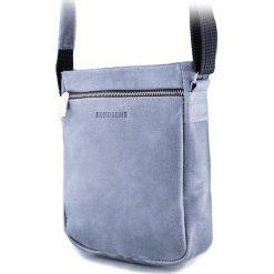 Torba na ramię saszetka BRODRENE szary. Czarne torby na ramię męskie marki Brødrene, w paski, ze skóry. Za 139,90 zł.