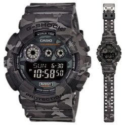 Zegarek Casio Męski GD-120CM-8ER G-Shock Camouflage szary. Szare zegarki męskie CASIO. Za 507,75 zł.
