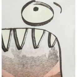 T-shirty chłopięce z nadrukiem: Catimini NEO URBAIN DINOSAURE Tshirt z nadrukiem ecru