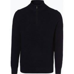 Fynch Hatton - Sweter męski, niebieski. Niebieskie swetry klasyczne męskie Fynch-Hatton, m, z kołnierzem typu troyer. Za 399,95 zł.
