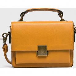 Answear - Torebka. Brązowe torebki klasyczne damskie ANSWEAR, w paski, ze skóry ekologicznej, małe. Za 149,90 zł.