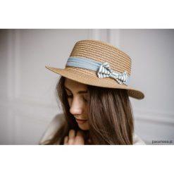 Kapelusz słomkowy, STRIPES. Żółte kapelusze damskie Pakamera, w paski. Za 129,00 zł.