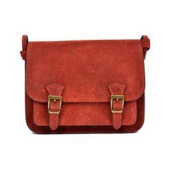 Torebki klasyczne damskie: Skórzana torebka w kolorze czerwonym – (S)21 x (W)26 x (G)8 cm