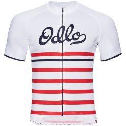 Odlo Koszulka rowerowa Stand-up collar s/s full zip Fujin Print biała r. XL (411442). Odzież rowerowa męska Odlo, m. Za 238,18 zł.
