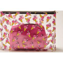 Kosmetyczki damskie: Kosmetyczka we flamingi – Wielobarwn