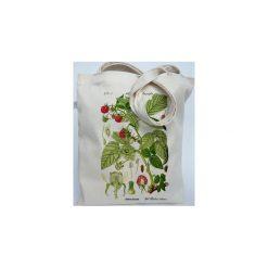 Malina - Eco torba bawełniana Torba na ramię Torba plażowa Torba ziołowa Rośliny Leśne. Zielone torby plażowe Mimi monster alicja Łaciak, z bawełny. Za 49,00 zł.