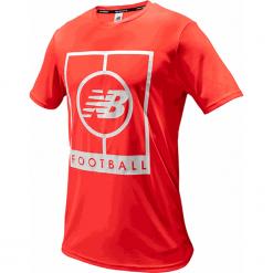 Koszulka treningowa MT833017BRC. Czerwone koszulki sportowe męskie New Balance, m, z materiału. Za 129,99 zł.