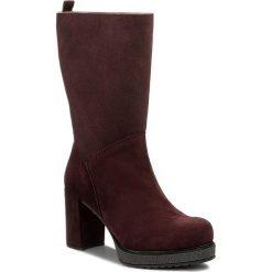 Kozaki UNISA - Katsi Bbs  Grape Bbsuede Cs. Czerwone buty zimowe damskie marki Unisa, z polaru, przed kolano, na wysokim obcasie, na obcasie. W wyprzedaży za 429,00 zł.