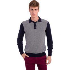 Swetry klasyczne męskie: Sweter w kolorze szaro-granatowym
