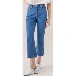 Spodnie z wysokim stanem: Jeansy z wysokim stanem redesign - Niebieski