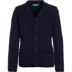 Swetry chłopięce: Benetton JACKET Kardigan dark blue