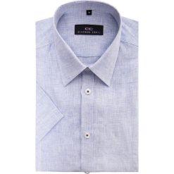 Koszula 15-03-29-K GILBERTO. Brązowe koszule męskie na spinki marki QUECHUA, m, z elastanu, z krótkim rękawem. Za 199,00 zł.
