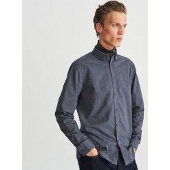 Bawełniana koszula slim fit - Szary. Szare koszule męskie na spinki Reserved, m, z bawełny. Za 69,99 zł.
