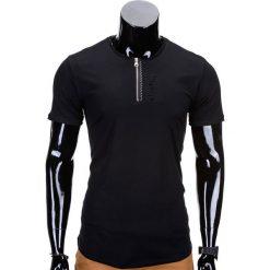 T-shirty męskie: T-SHIRT MĘSKI BEZ NADRUKU S721 – CZARNY
