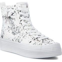 Sneakersy CALVIN KLEIN JEANS - Zazah Splattered RE9792 White. Białe sneakersy damskie Calvin Klein Jeans, z jeansu. Za 519,00 zł.