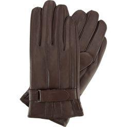 Rękawiczki męskie 39-6-707-B. Brązowe rękawiczki męskie Wittchen, w paski, z polaru. Za 149,00 zł.