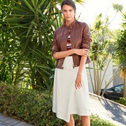 Minispódniczki: Spódnica kopertowa, jednokolorowa