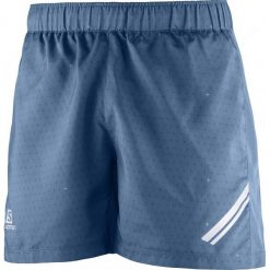 Spodenki sportowe męskie: Salomon Agile Short M Vintage In/Dress Blue/Lime L