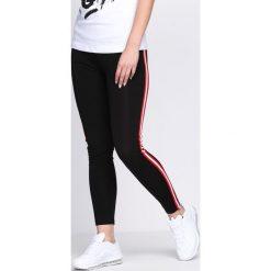Spodnie damskie: Czerwono-Czarne Legginsy Feel Alive
