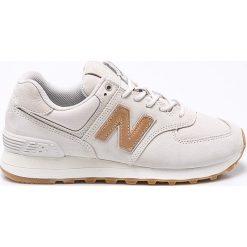 New Balance - Buty WL574CLS. Szare buty sportowe damskie marki New Balance, z gumy. W wyprzedaży za 299,90 zł.