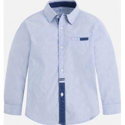 Mayoral - Koszula dziecięca 92-134 cm. Szare koszule chłopięce z długim rękawem marki Mayoral, z bawełny, z włoskim kołnierzykiem. Za 104,90 zł.