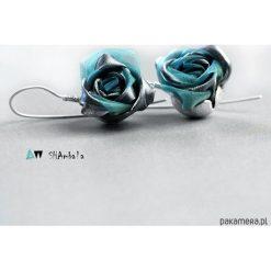 Kolczyki damskie: Srebrne kolczyki róże metaliczne IRON TURKUS