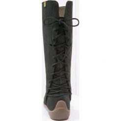 Buty zimowe damskie: El Naturalista BEE Kozaki sznurowane black