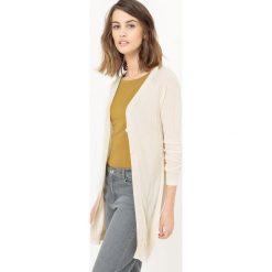 Półdługi sweter rozpinany. Szare kardigany damskie La Redoute Collections, m, z wiskozy. Za 75,60 zł.